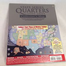 "NEW SEALED! STATE SERIES QUARTERS 1999-2009 COLLECTORS MAP WALL MOUNT 26"" x 16"""