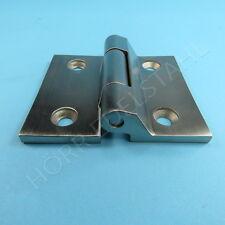 Edelstahl Torband 70 x 40 mm Scharnier mit 4 Löchern gerader Platte V4A