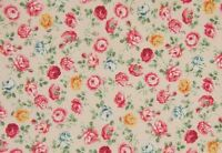 Cottage Shabby Chic Quilt Gate Mary Rose Small Pale Pink Floral Roses BTY