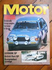 'Motor' magazine, vol.154, no. 3956 (August 5, 1978) - Rally