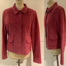 Preloved - Laura Ashley Bright Pink Suede Leather Jacket - Sz 14