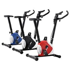 vidaXL Heimtrainer Hometrainer Fitness Fahrrad Bike Cardio Schwarz/Blau/Rot