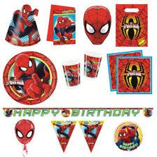 Decoración y menaje para cumpleaños infantil para mesas de fiesta de Spider-Man