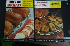 Maple Leaf Mills Advertising flour Cook Booklets monarch Purity lot  2 Vtg 60's