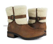 UGG Australia Blayre II Chestnut Leather Fur Boots Womens Size 8 *NIB*