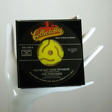The Fortunes - Music Drink Coaster Made with The Original 45 rpm Record