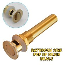 Golden Brass Oil Rubbed Bathroom Sink Basin Pop Up Drain Assembly With Overflow