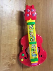 Fisher Price 2-in-1 BACH 'N ROCK Musical Instrument Guitar & Violin #77820, Red