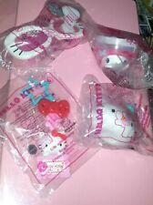 McDonald's Hello Kitty TeaCup Glasses Sticker Dispnsr Name Tag HappyMeal Lot NIP