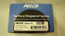 """PELCO - SURVEILLANCE CAMERA VARIFOCAL MEGAPIXEL LENS 15-50mm 1/3"""" CS  13M15-50"""