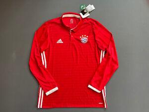 AI0053 Bayern Munich Jersey 2016/17 Home Player Issue Sz 10 Soccer Trikot Adidas