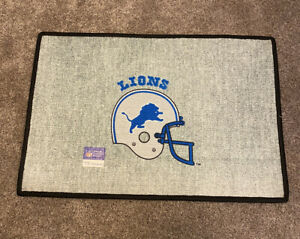 Vintage Detroit Lions Door Mat Floor Mat Tailgate NFL football Deadstock helmet