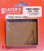 Slaters 7155 - 7mm (0) 1 Pair 3 Link Metal Coupling Kits New Pack 1st Class Post