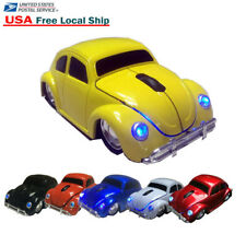 Cordless VW Beetle Car 2.4GHz Wireless Optical Mouse Mice Bug + USB Receiver US