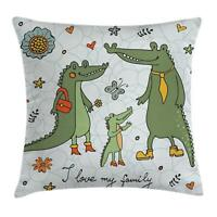 Family Throw Pillow Cases Cushion Covers Home Decor 8 Sizes Ambesonne