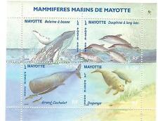 MAYOTTE N° 173 à 76 MAMMIFERES MARINS BALEINES, CETACES, DAUPHINS