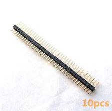 10pcs 50Pin 50P 1.27MM Gold Plated Single Row Straight Male Pin Header