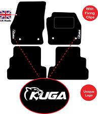 Tailored Car Mats Fits Ford Kuga 2015 onwards with Unique Logos 4 fixing clips