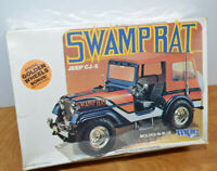 Vintage MPC SWAMP RAT JEEP CJ-5 Model Kit Sealed 1981 1/25 Scale 1-0856