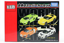 TOMICA World Super Car Set Gift  LP700-4, Corvette Z06, Audi R8, Lotus Exige