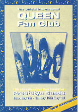 RARE / FLYER - QUEEN : FREDDIE MERCURY FAN CLUB INTERNATIONAL 1998 / 4 VOLETS