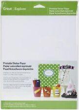 "Cricut Explore PRINTABLE STICKER PAPER Size 8.5"" x 11"" Pack 10 Sheets 2002530"