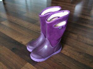Bogs girls size 13 purple boots rain muck waterproof purple Riding Boots