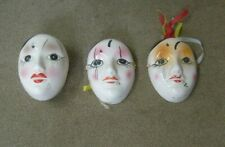 Glass porcelain decorative masks and NANCO dish