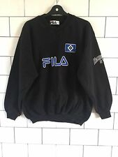 MENS URBAN VINTAGE RETRO 90'S BLACK OLD USA FILA SWEATSHIRT SWEATER JUMPER M/L