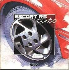 FORD ESCORT RS TURBO BROCHURE Mk 1 2 3 PART S WHITEHOT