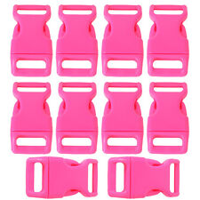 """10pcs 5/8"""" Side Release Plastic Buckles for 0.6"""" Webbing Straps Deep Pink AD"""