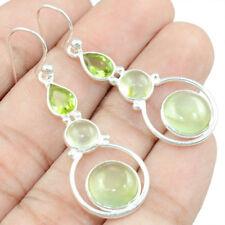 Prehnite & Peridot 925 Sterling Silver Earring Allison Co Jewelry E-27993