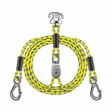SELEWARE 7.87ft Heavy Duty Boat Tow Harness, 3 Permanent Antirust Stainless S...