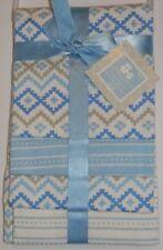 New Cribmates Blue White Diamond Geo Baby Boy 4 Pk Flannel Receiving Blankets