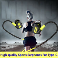 For Type C Sports Stereo Earphone Type-C Headset Headphone Earbuds Microphone
