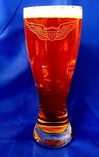US Army Aviator Wings custom etched 23oz pilsner set of 2