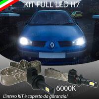 kIT FULL LED RENAULT MEGANE II MK2 LAMPADE LED H7 6000K XENON BIANCO NO AVARIA