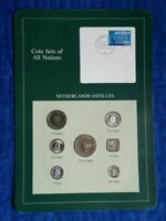 Coin Sets of All Nations Netherlands Antilles All 1984 only 2 1/2 Gulden is 1982