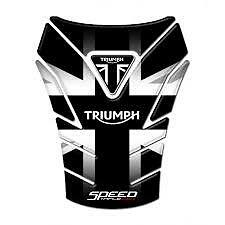 Motorcycle Tank Pad Protector Sticker | (TRIUMPH) Speed Triple 1050 Black