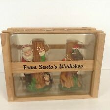 "VTG & RARE CHRISTMAS IN THE SWAMP Candle Holders ""From Santa's Workshop"" Unused"