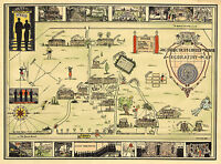 Historical Map of Connecticut College for Women Decorative Wall Poster Vintage