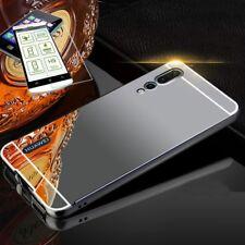 pour Huawei P20 Pro Pare-chocs en aluminium 2 pièces noir + 0,3 H9 verre
