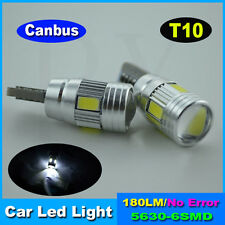 10x Auto Car CANBUS T10 W5W 5630 6-SMD HID White 194 192 158 LED Light Bulb Lamp