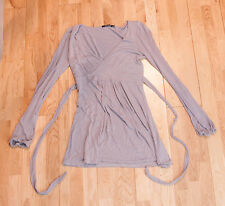 Atmosphere Grey Top With Tie-able Waist Belt - Size 10