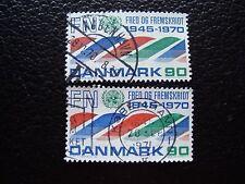 DANEMARK - timbre yvert et tellier n° 512 x2 obl (A33) stamp denmark