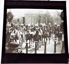 King George V at King Edwards Funeral - Antique 1910 Magic Lantern Slide