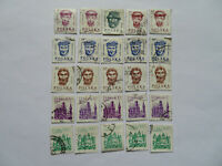 Rare Polish Stamps Socialist Communist Era 1981 - 1988 x 25 Lot