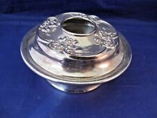 Antique Silverplate Hair Receiver By Superior Silver Co.