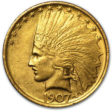 1907 $10 Indian Gold Eagle Coin - Almost Uncirculated - SKU #14693