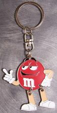 Metal Key Ring Cartoon Characters M and M Candy M&M NEW RED